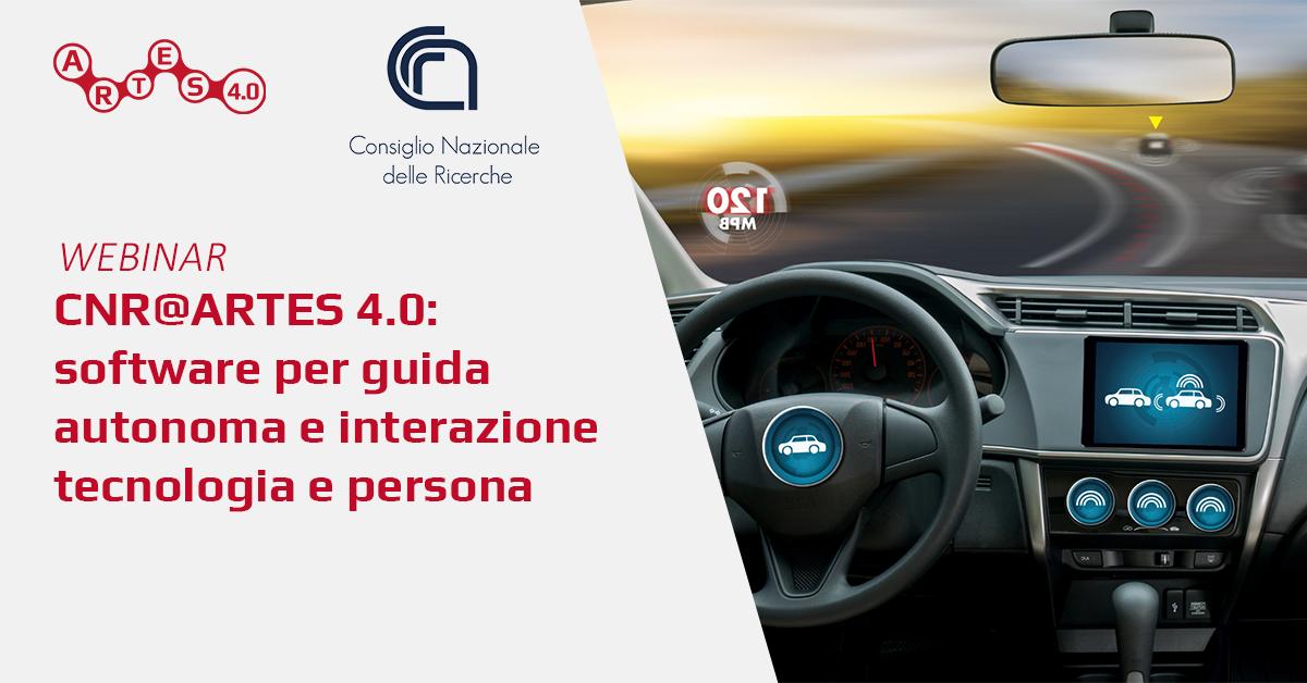 Webinar Software per guida autonoma e interazione tecnologia e persona - ARTES 4.0