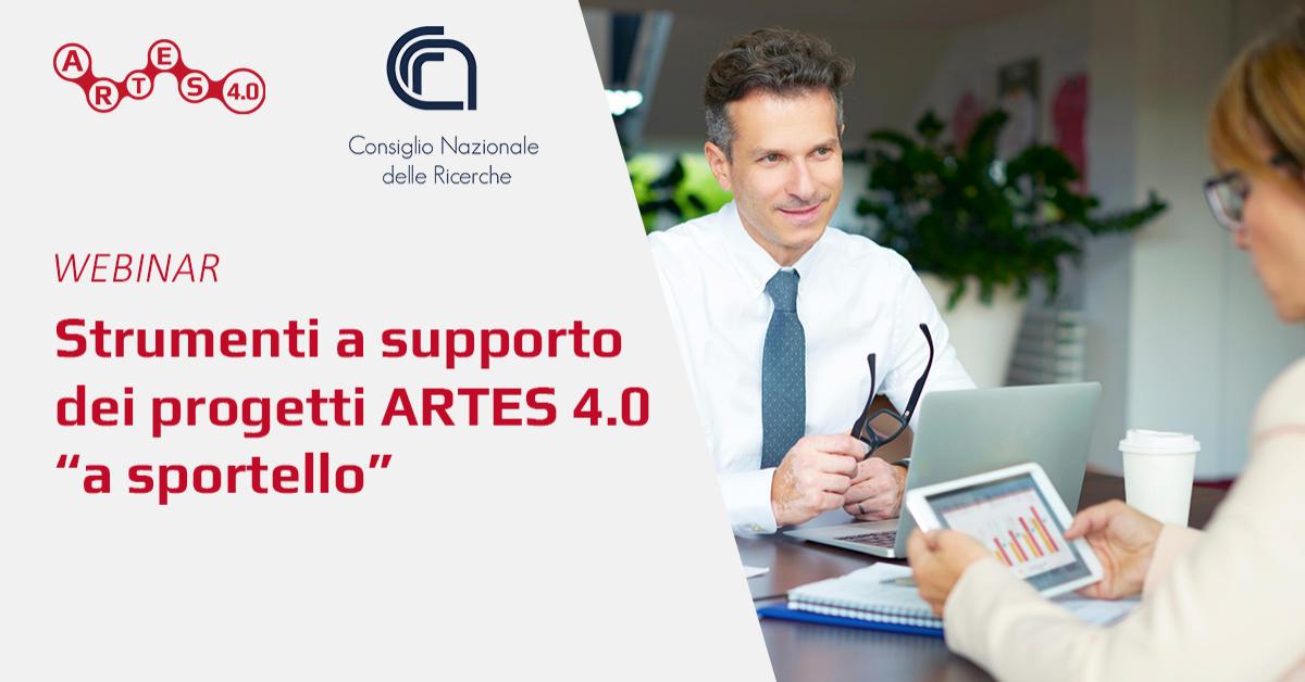 """Webinar Strumenti a supporto dei progetti ARTES 4.0 """"a sportello"""" - ARTES 4.0"""